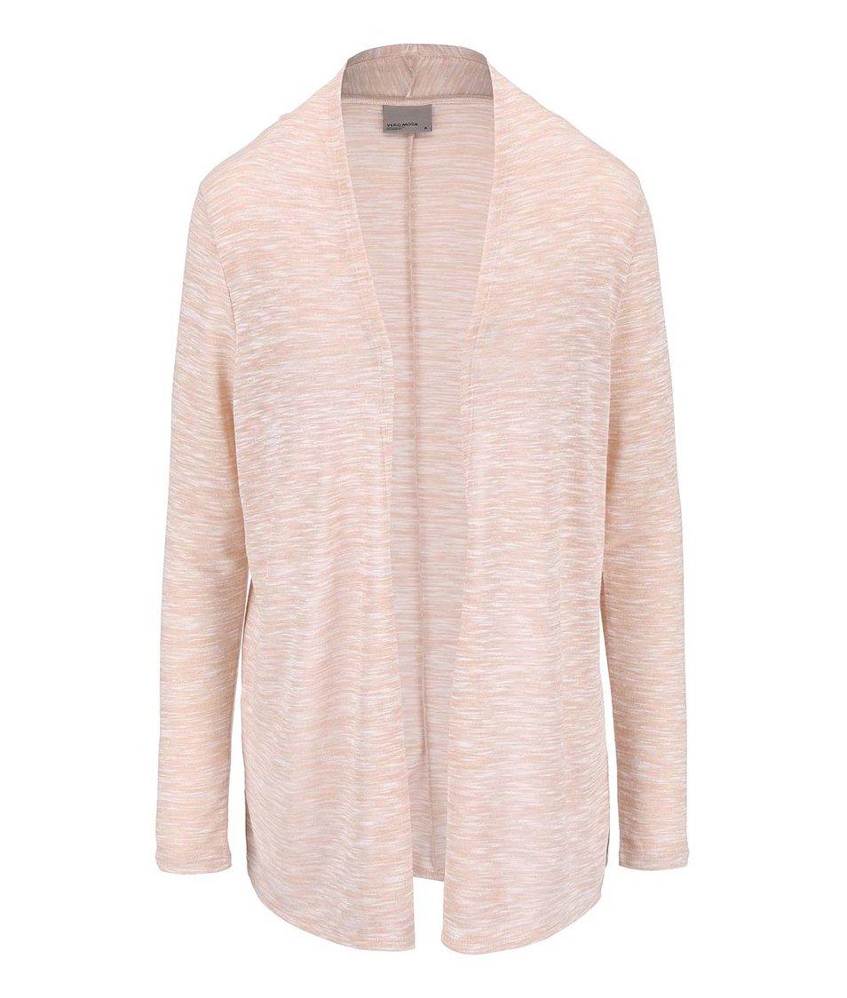 Světle růžový dlouhý cardigan Vero Moda Anna