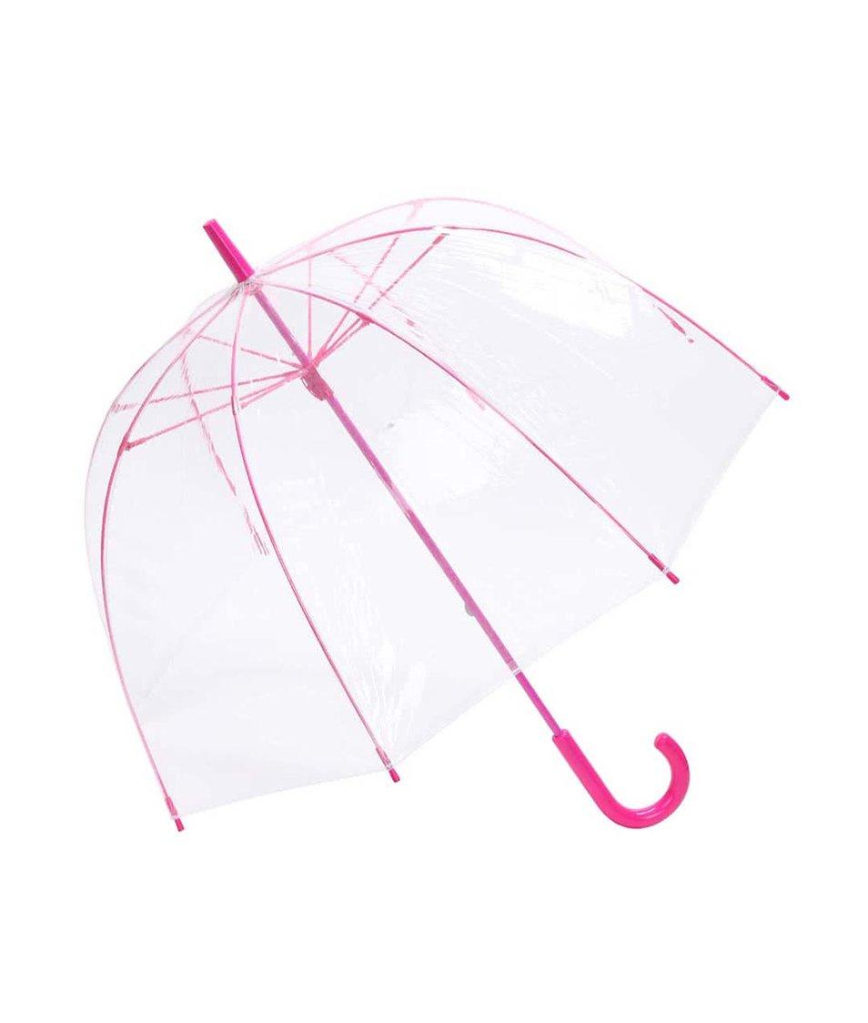 Deštník Lindy Lou Superdome s růžovou konstrukcí