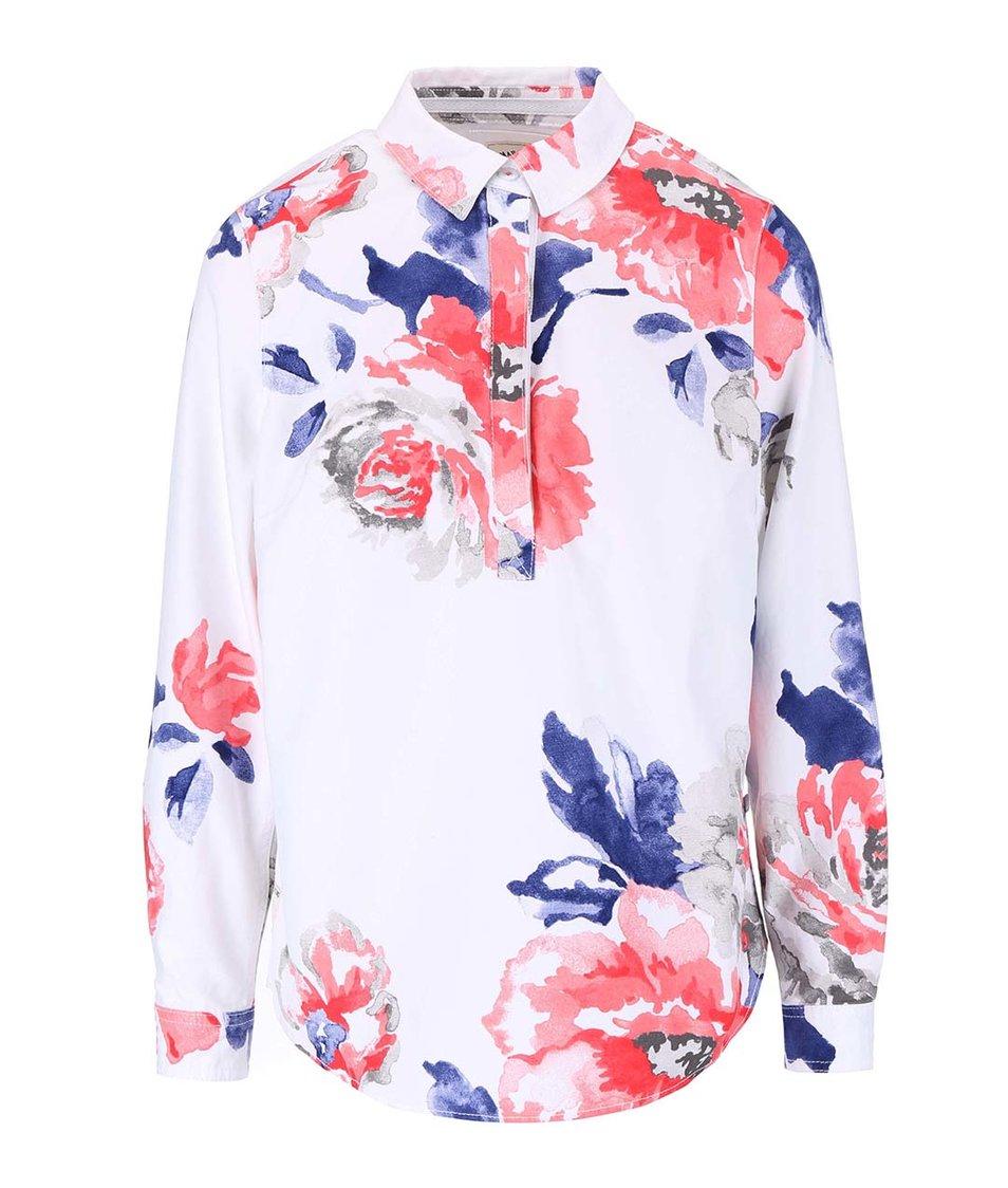 Bílé tričko s potiskem a dlouhým rukávem Tom Joule Clovelly