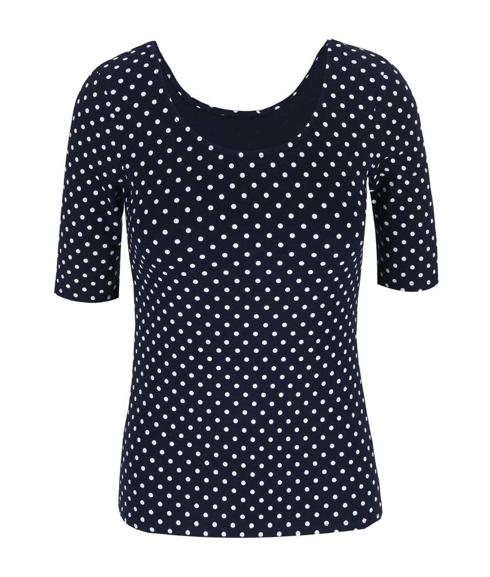 Tmavě modré puntíkované tričko Haily´s Rachel