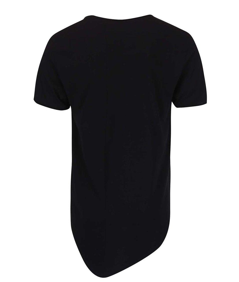 Černé delší triko ONLY & SONS Chad