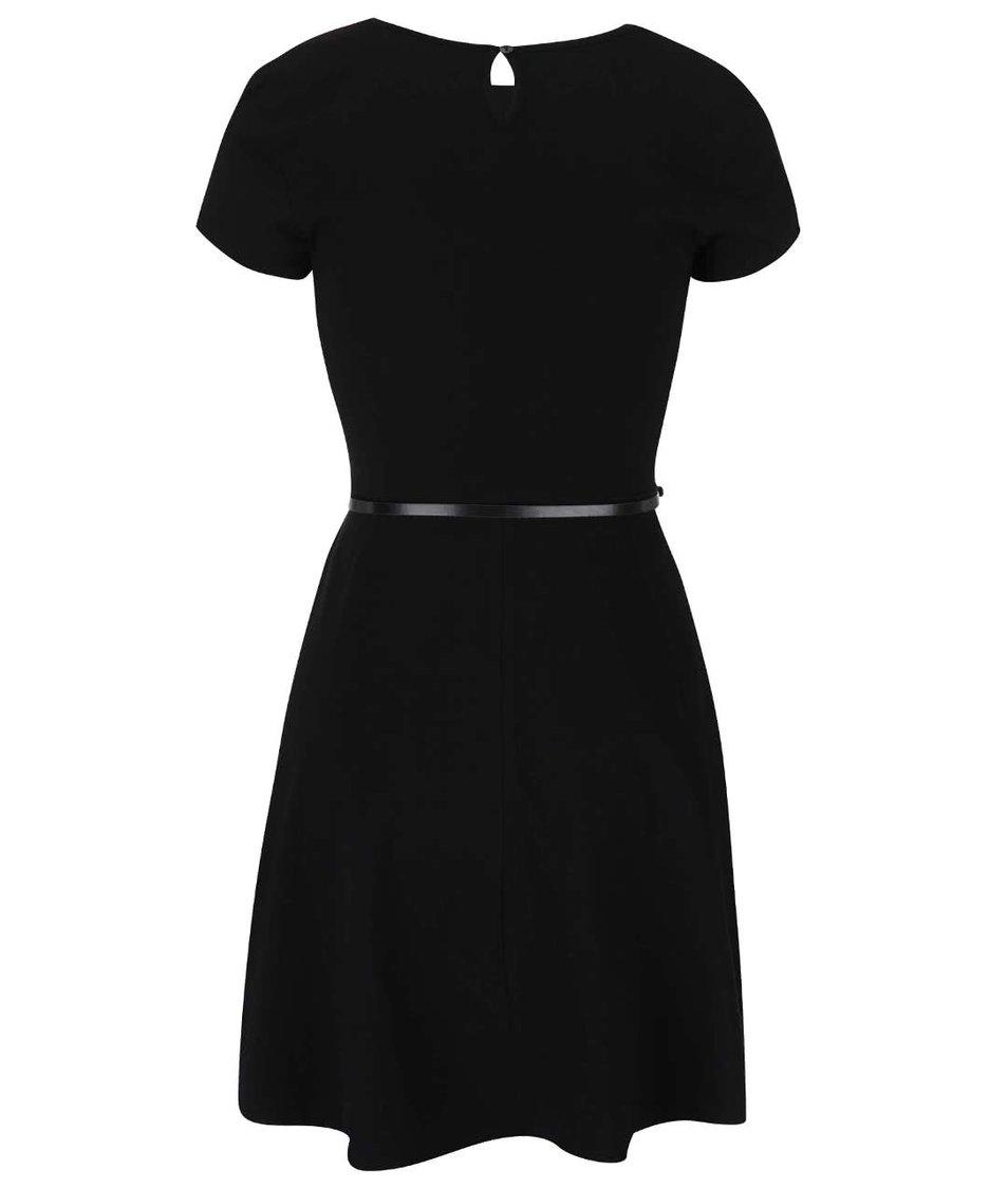 Černé volnější šaty s páskem Dorothy Perkins