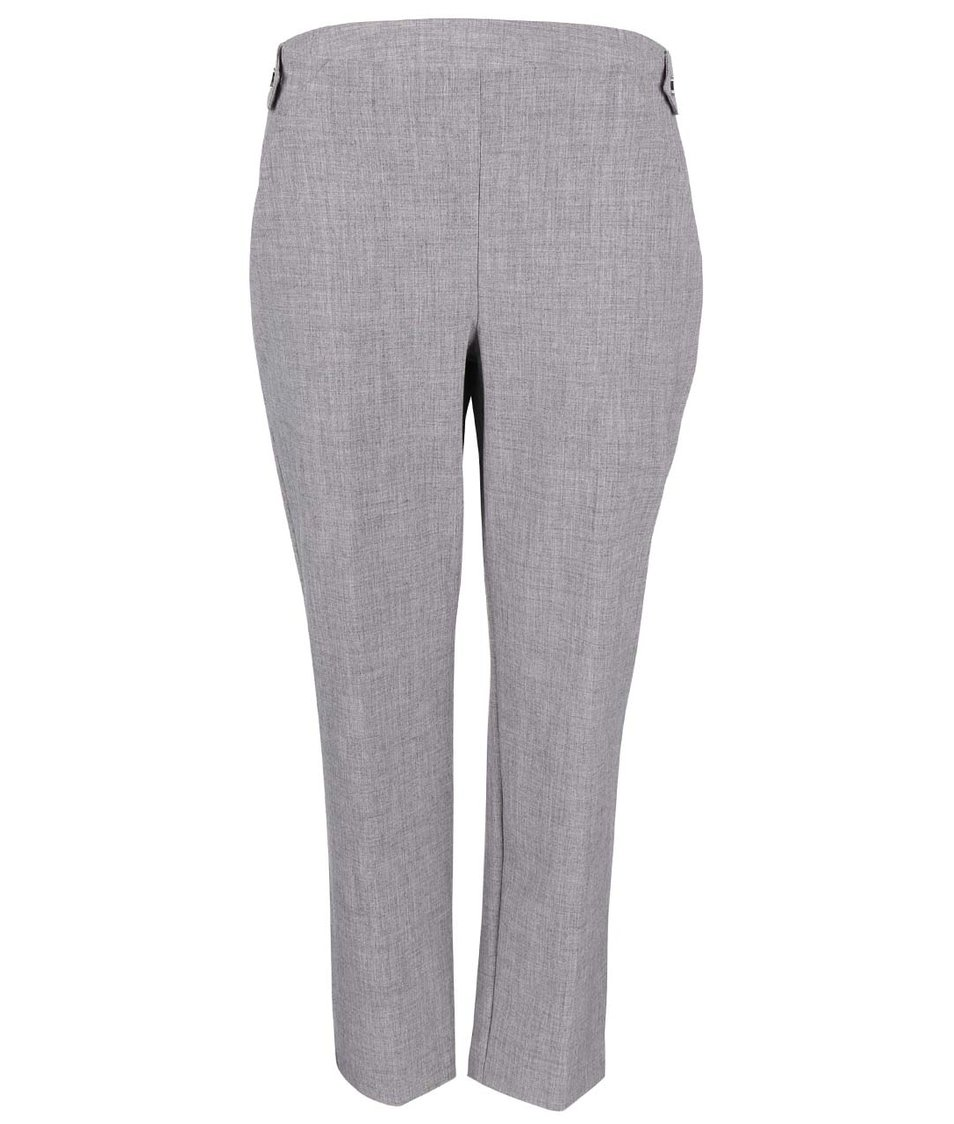 Šedé rovné formální kalhoty Dorothy Perkins