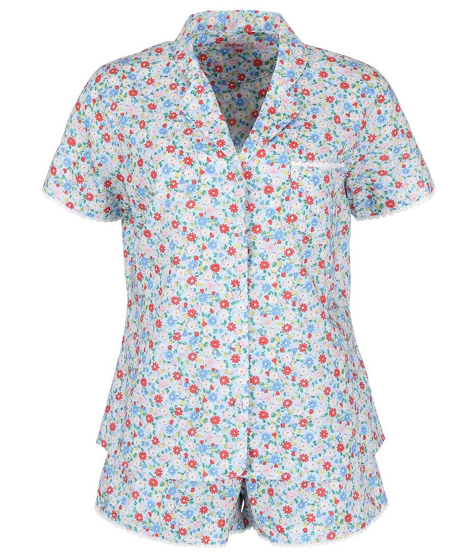 Světle modré dámské květované pyžamo Cath Kidston