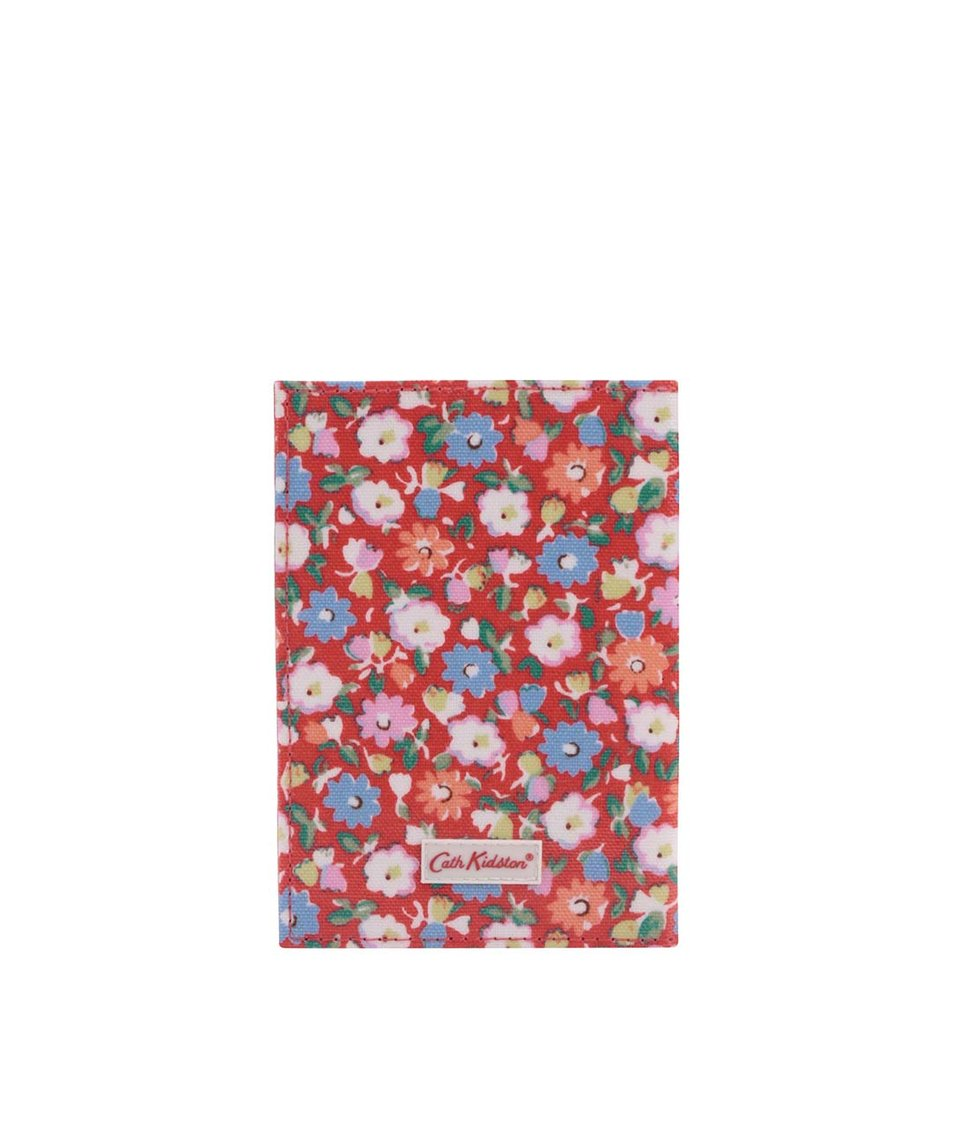 Červené květované pouzdro na doklady Cath Kidston