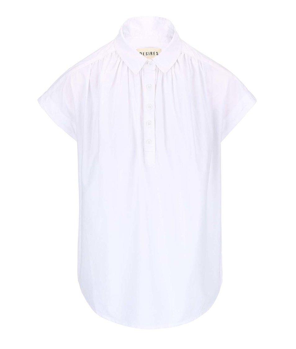 Bílá košile s krátkým rukávem Desires Tarik