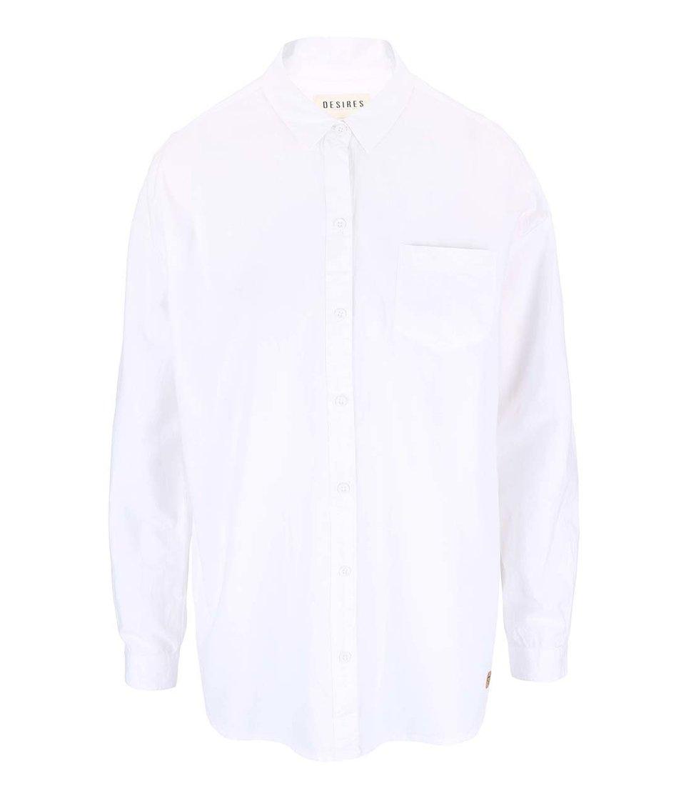 Bílá oversized košile Desires Tarik