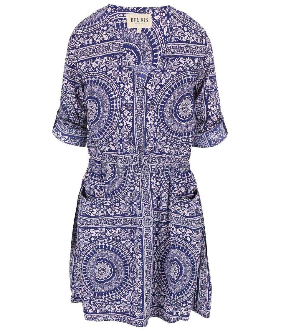 Modré šaty se vzorem Desires Dance