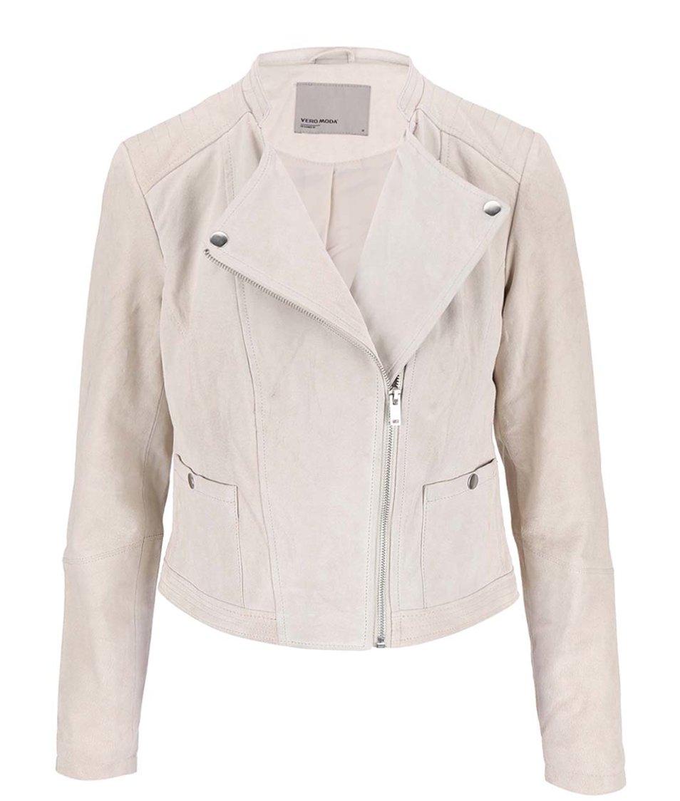 Krémová semišová bunda Vero Moda Fina