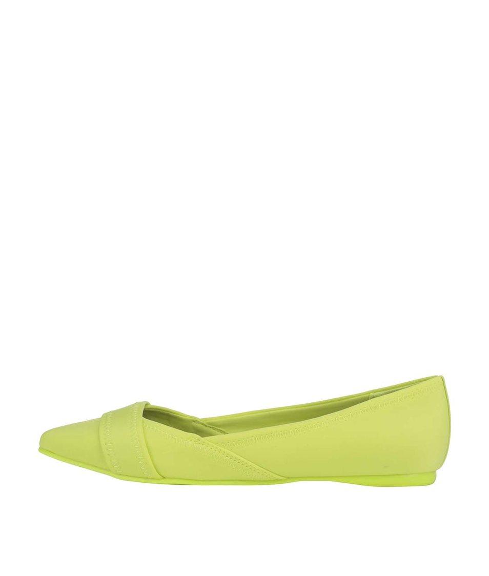 Neonově žluté balerínky ALDO Maida