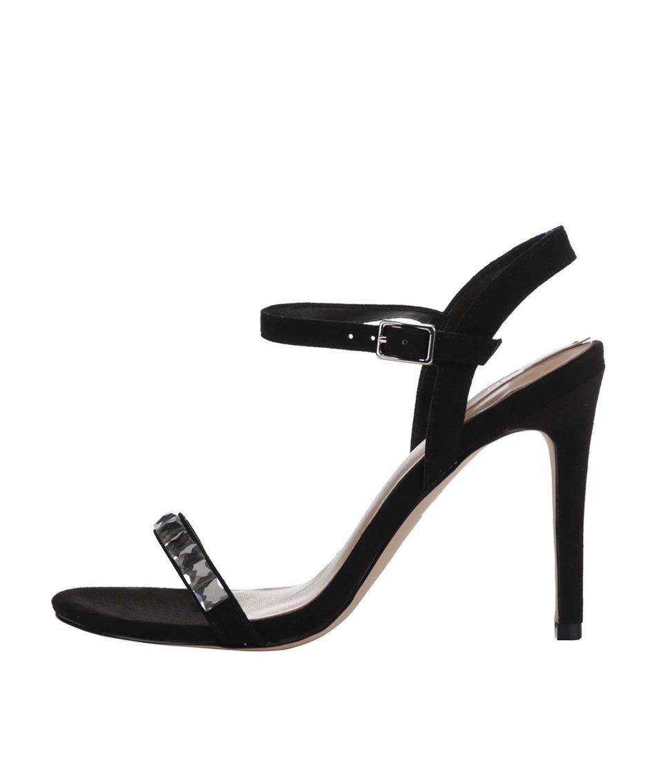 Černé zdobené sandálky ALDO Edilisien