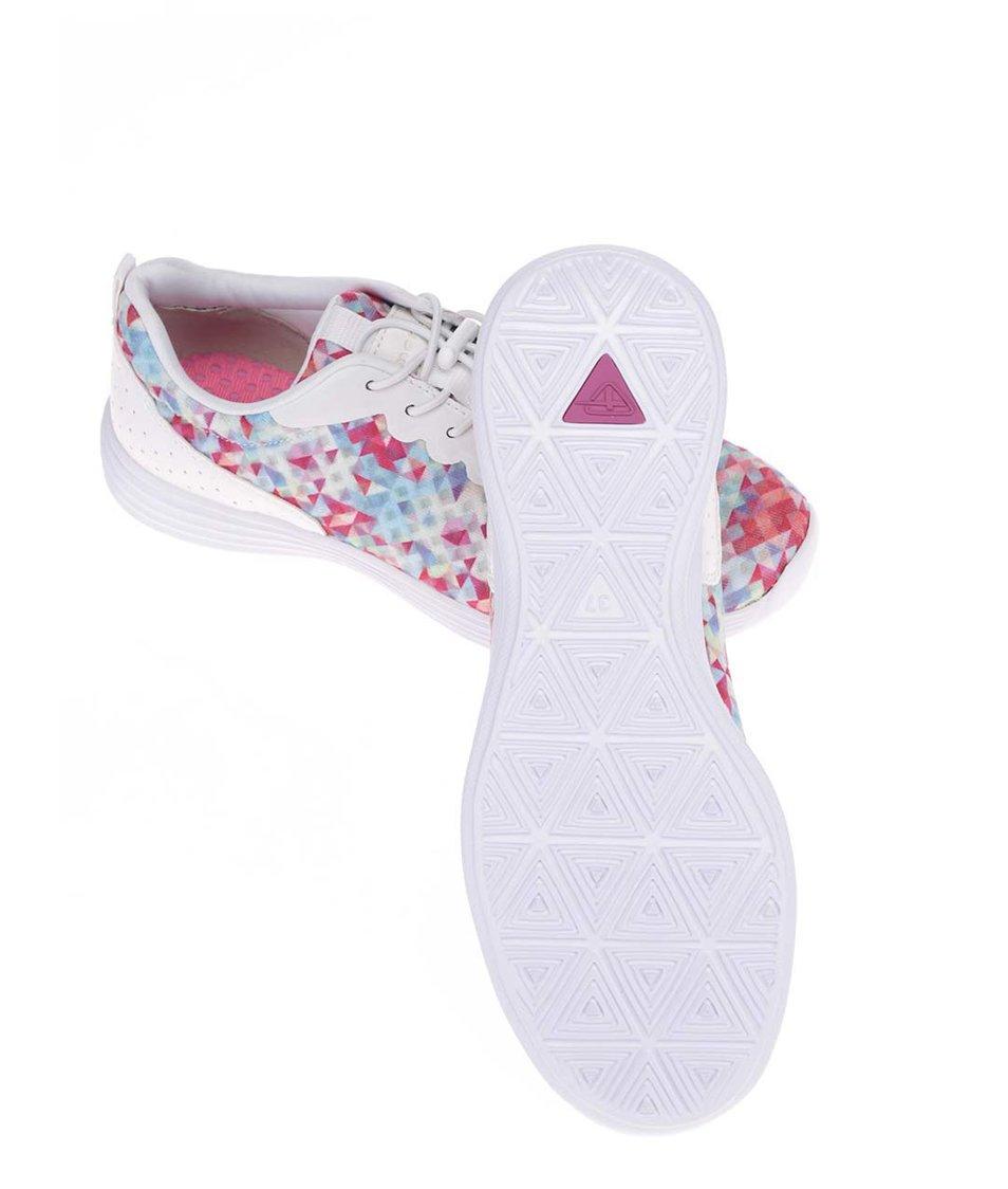 Bílé tenisky s barevnými trojúhelníčky Tamaris