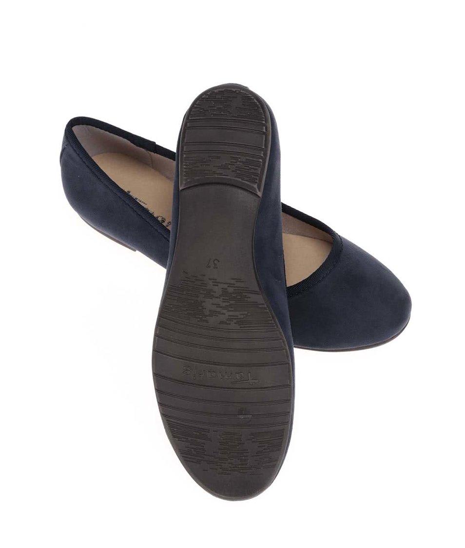 Tmavě modré balerínky Tamaris