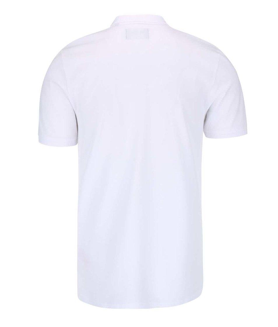 Bílé polo triko ONLY & SONS Pique