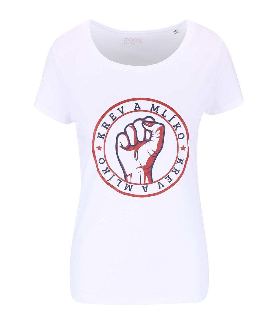 Bílé dámské tričko ZOOT Originál Krev a mlíko