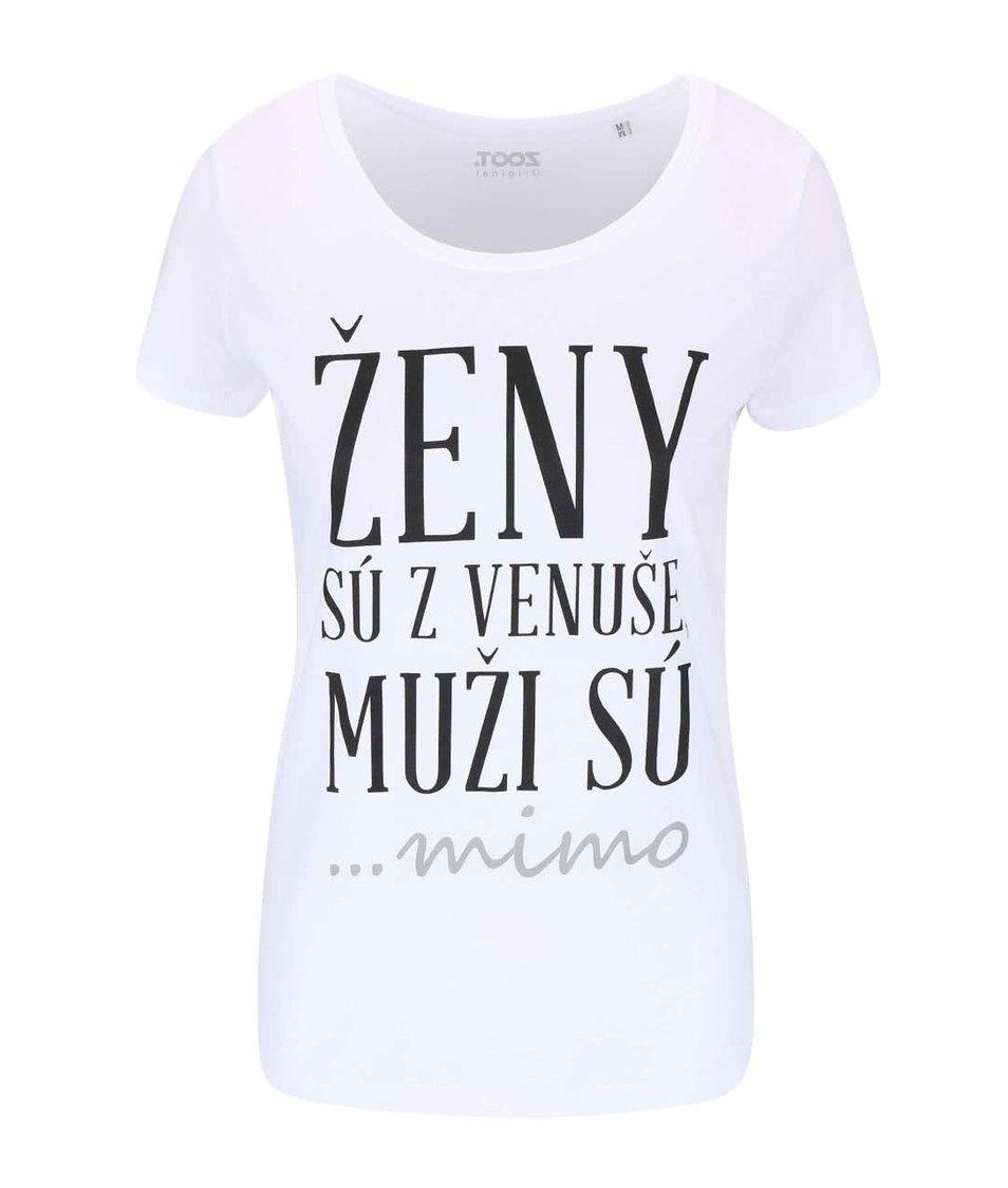 Bílé dámské tričko ZOOT Originál Ženy sú z Venuše