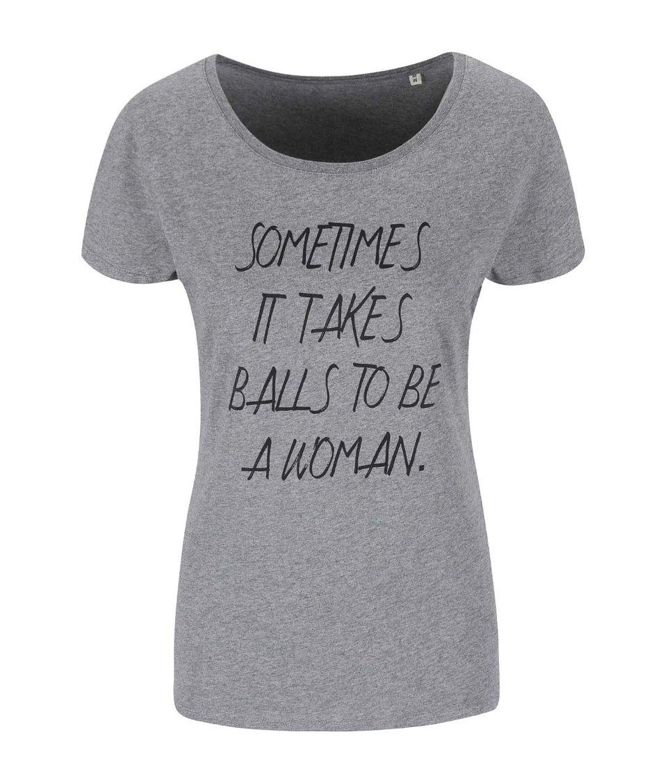 Šedé dámské tričko ZOOT Originál Sometimes