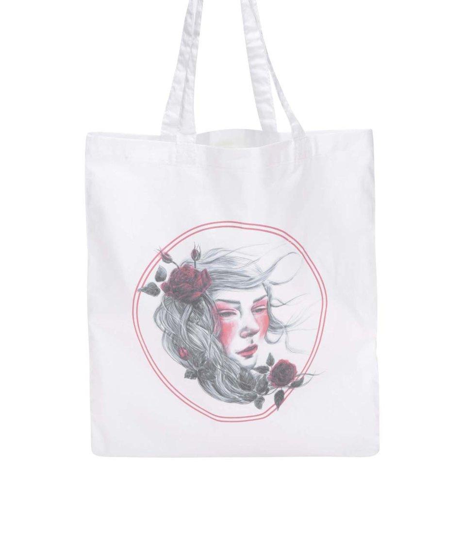 Bílá plátěná taška ZOOT Originál Female