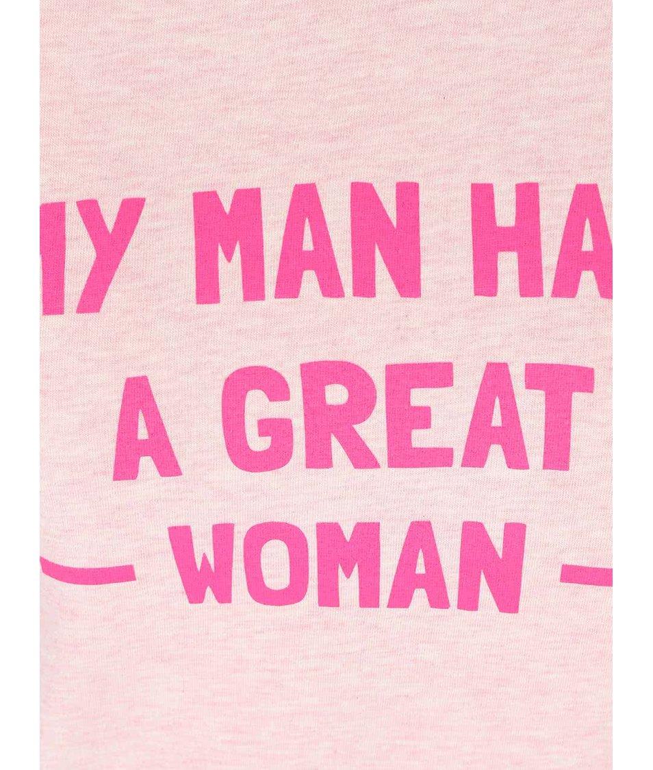 Světle růžové dámské tričko ZOOT Originál My Man