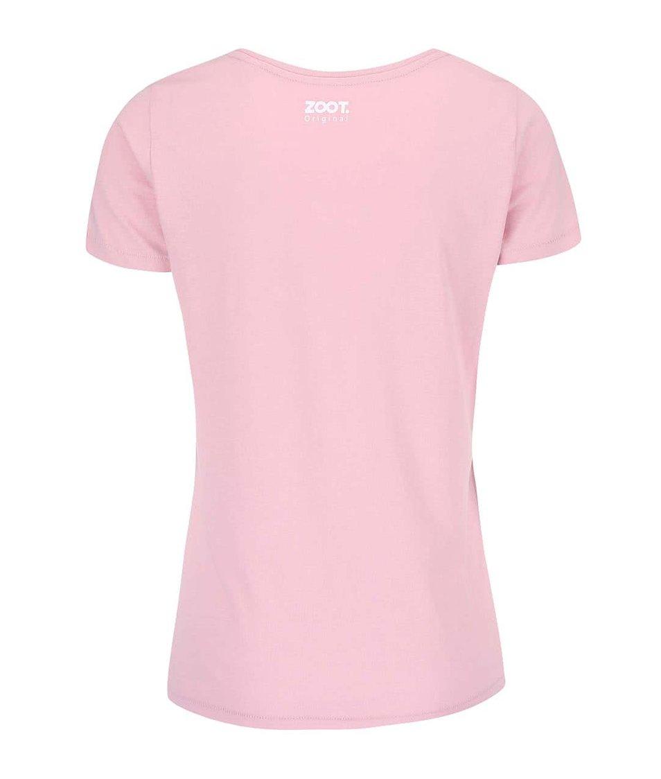 Růžové dámské tričko ZOOT Originál Relax