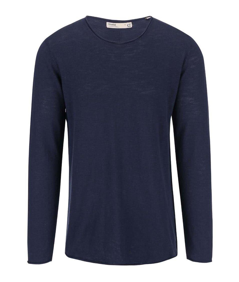 Modrý svetr !Solid Baxley