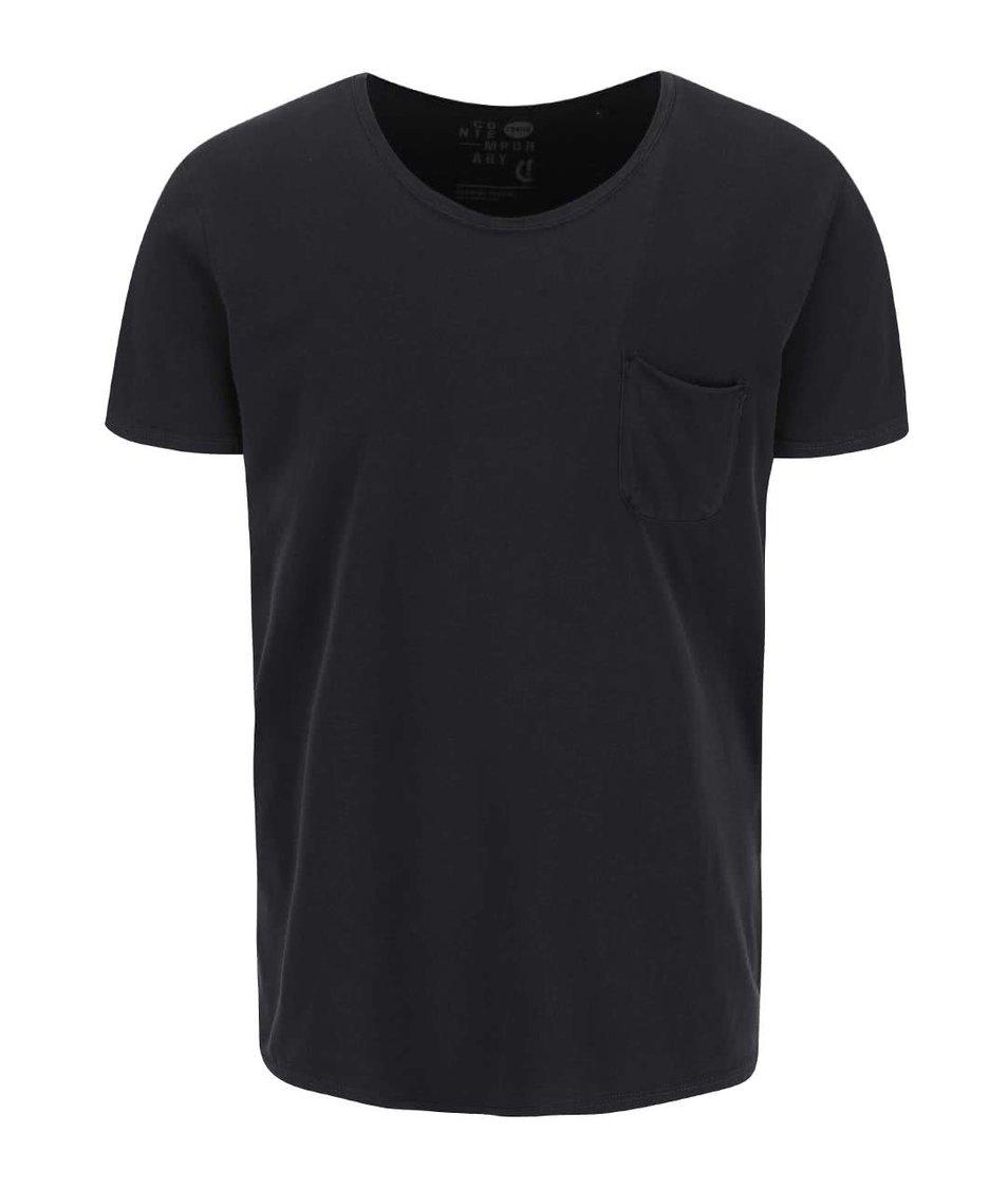 Černé triko s náprsní kapsou !Solid Sean