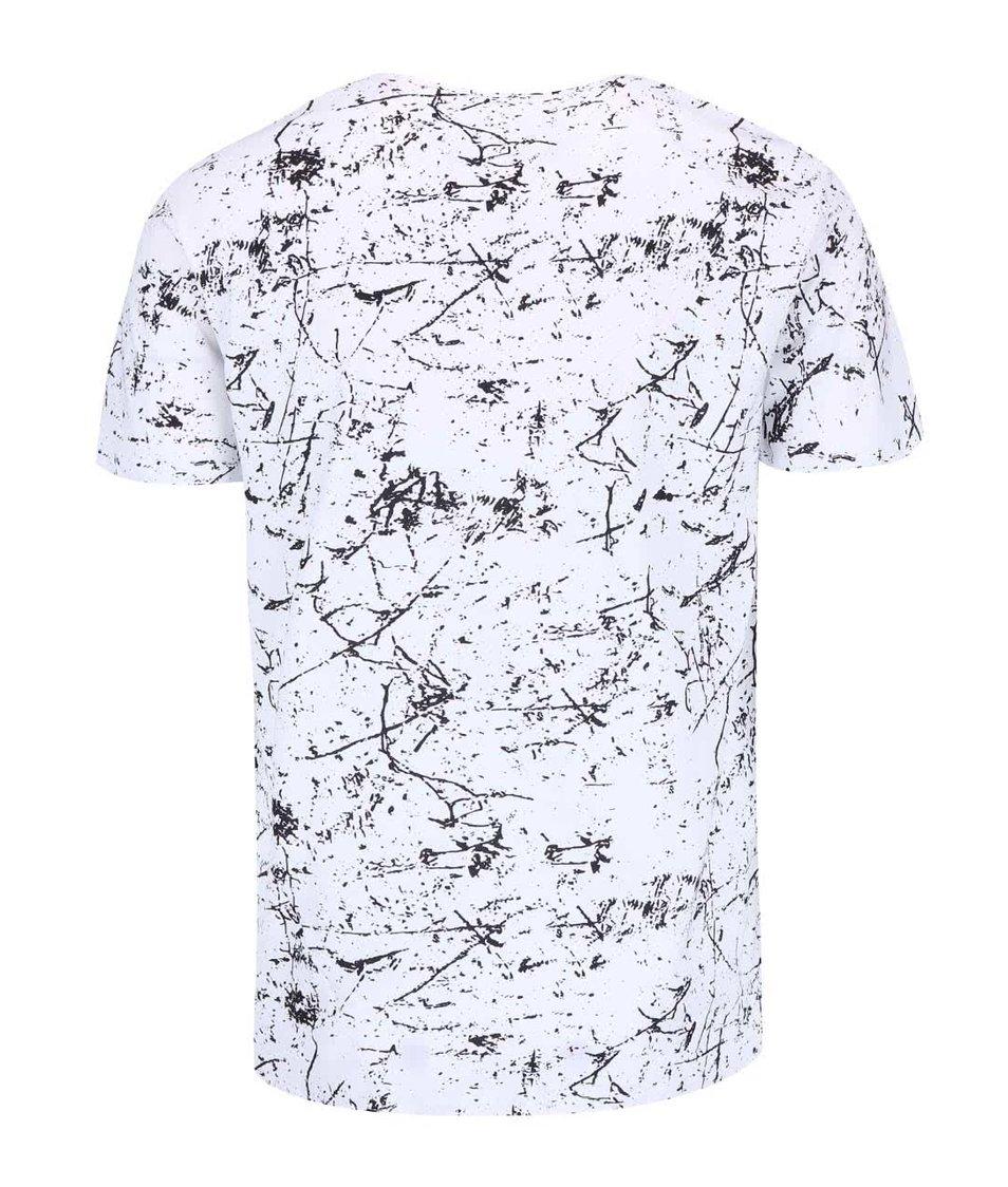 Černo-bílé vzorované triko !Solid Balsam