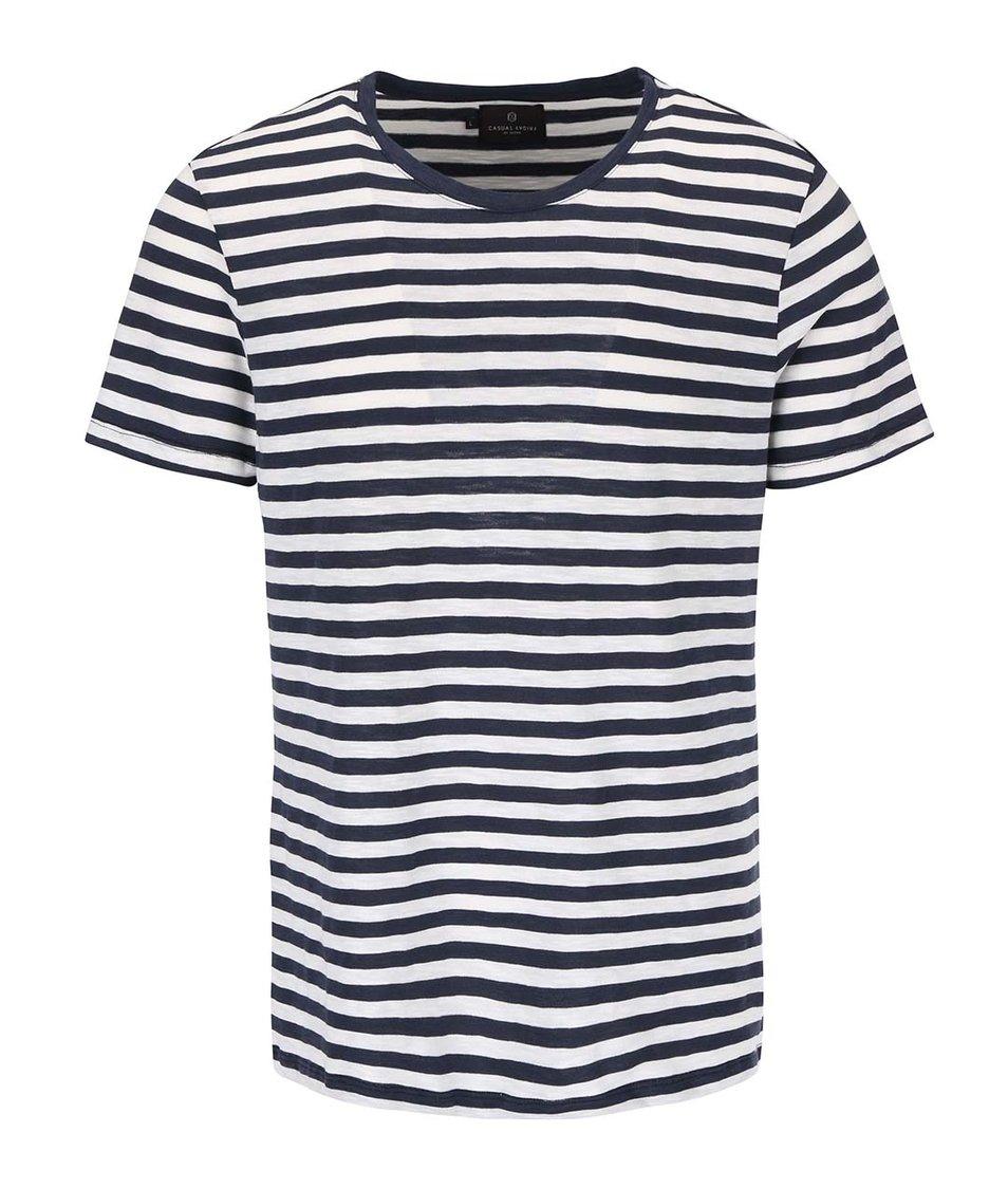 Krémovo-modré pruhované triko Casual Friday by Blend