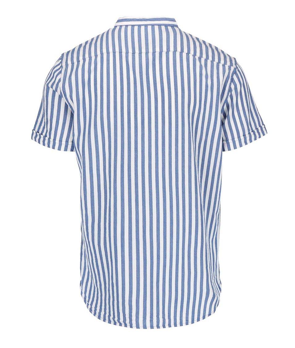 Bílo-modrá pruhovaná košile s krátkým rukávem Casual Friday by Blend
