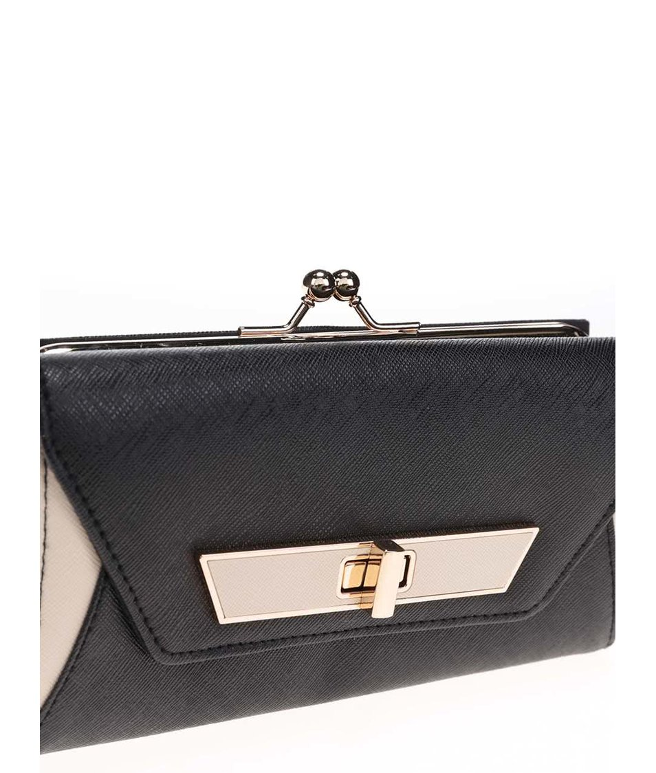 Krémovo-černá peněženka Dorothy Perkins