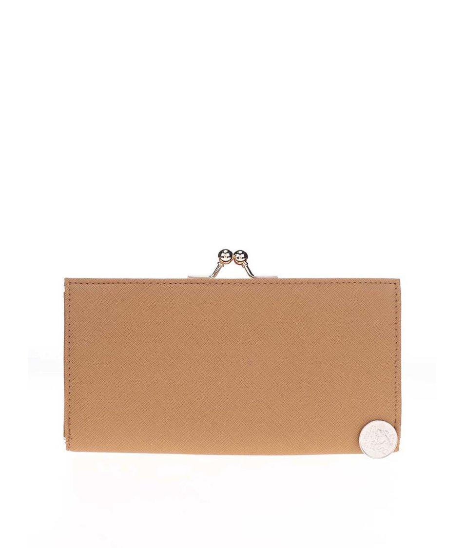 Krémovo-hnědá peněženka Dorothy Perkins