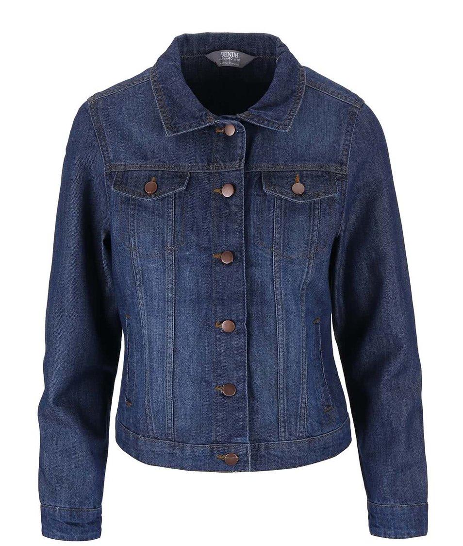 Tmavě modrá džínová bunda Dorothy Perkins