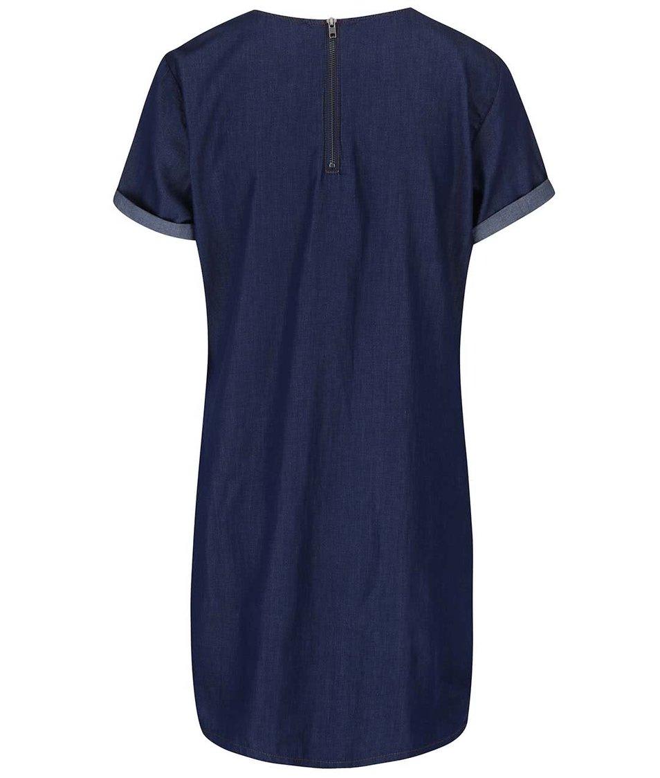 Modré denimové šaty s kapsami Dorothy Perkins
