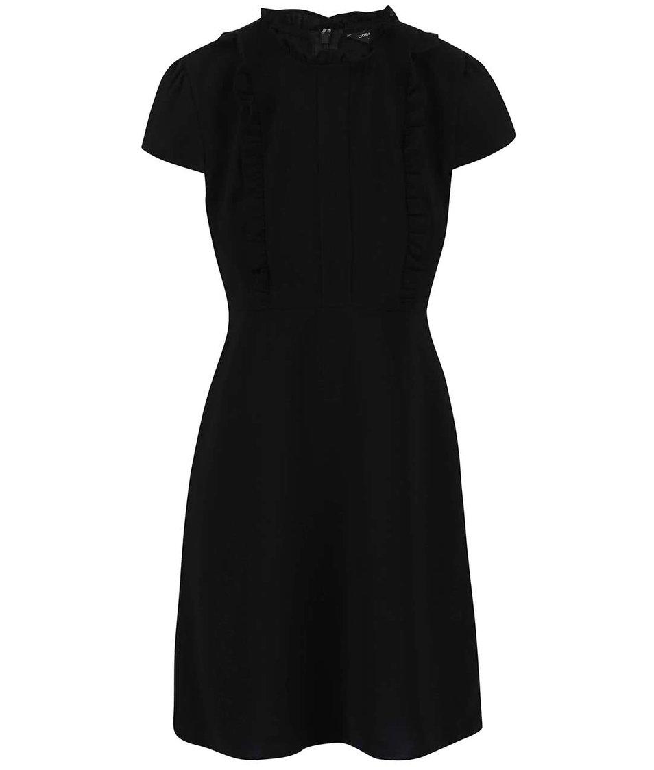Černé šaty s volánkem Dorothy Perkins