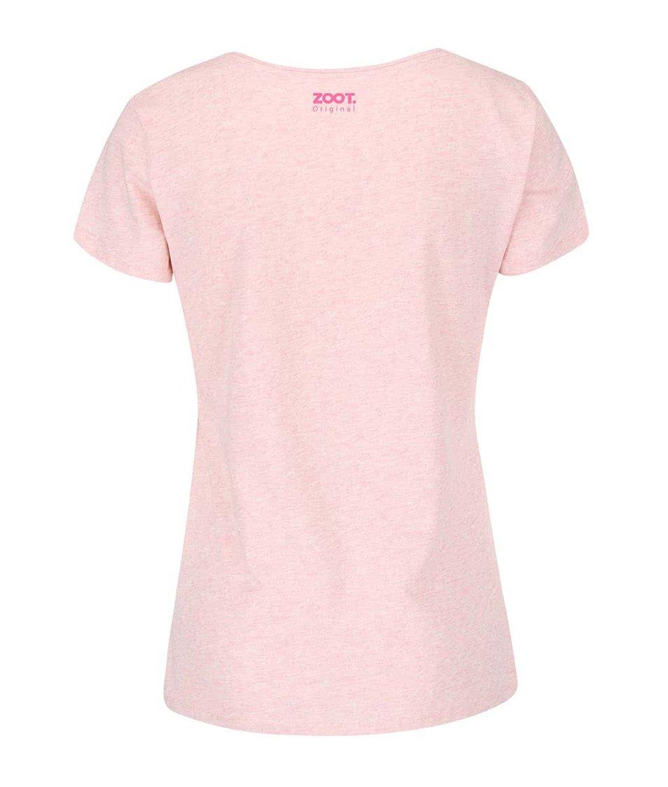 Světle růžové dámské tričko ZOOT Originál Strong As Hell