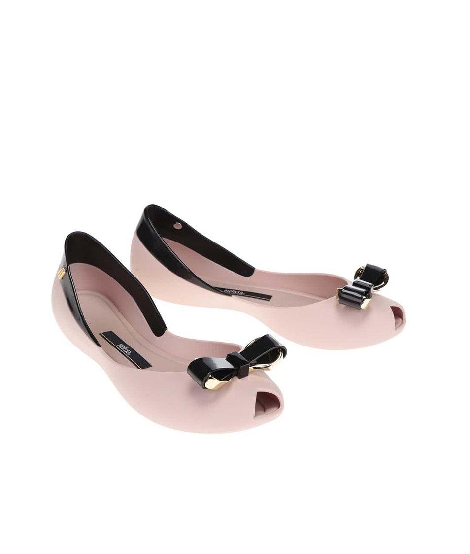 Černo-růžové matné baleríny Melissa Queen