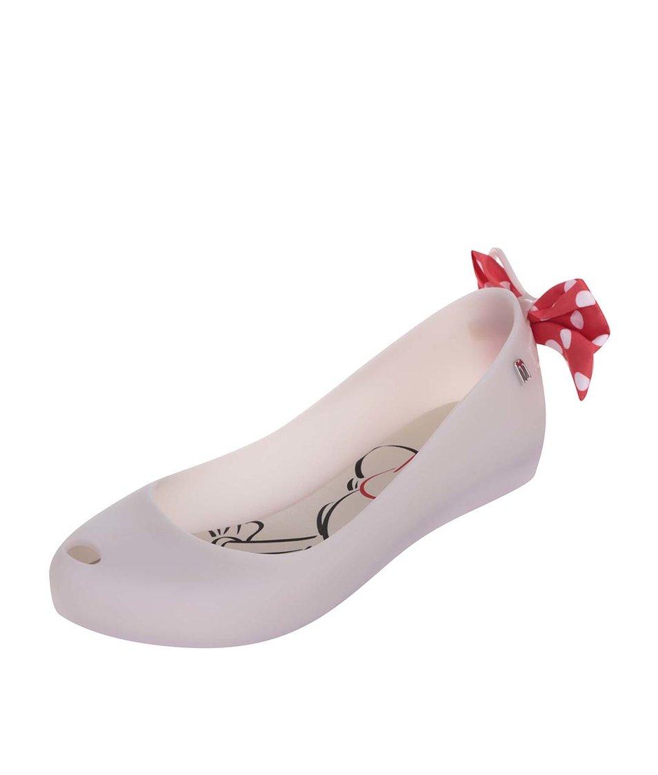 Bílé baleríny s mašlemi na patách Melissa Ultragirl Minnie