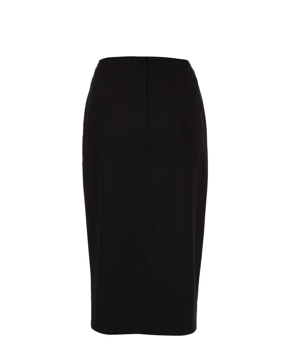 Černá sukně s ozdobnými knoflíky Dorothy Perkins