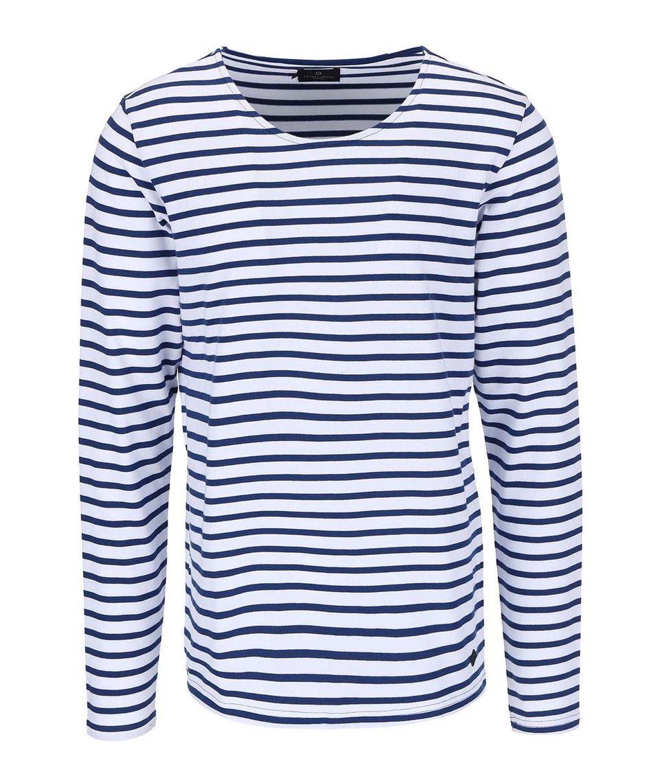 Bílo-modré pruhované triko s dlouhým rukávem Casual Friday by Blend