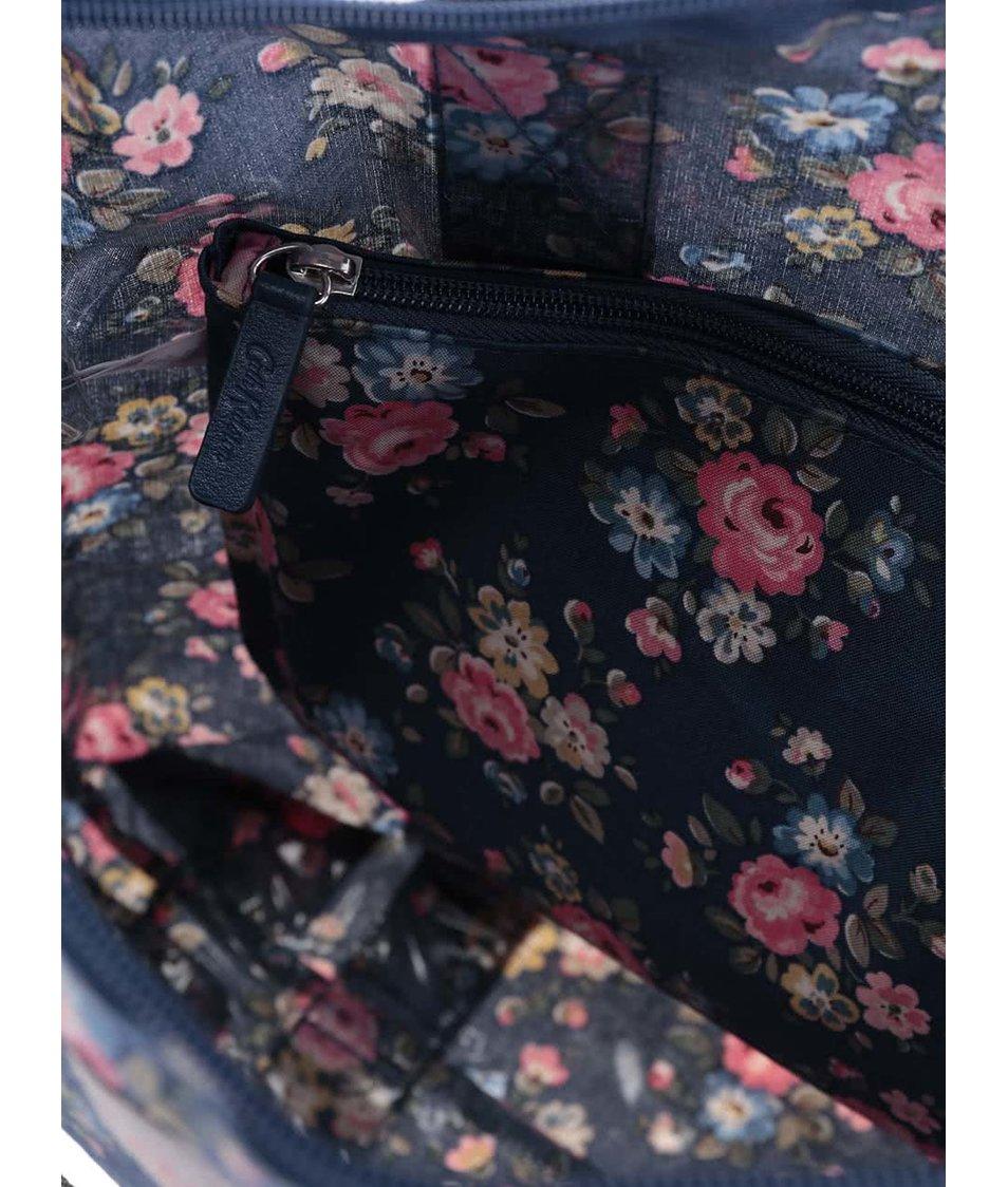 Tmavě modrý květovaný shopper s pouzdrem Cath Kidston