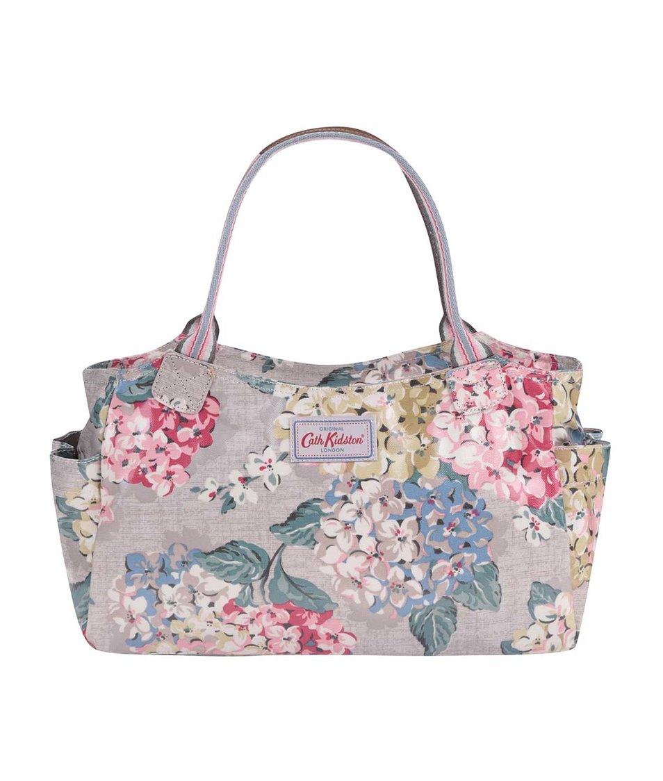 Šedohnědá květovaná menší taška Cath Kidston