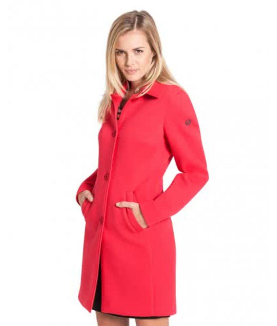 Červený dámský kabát bugatti