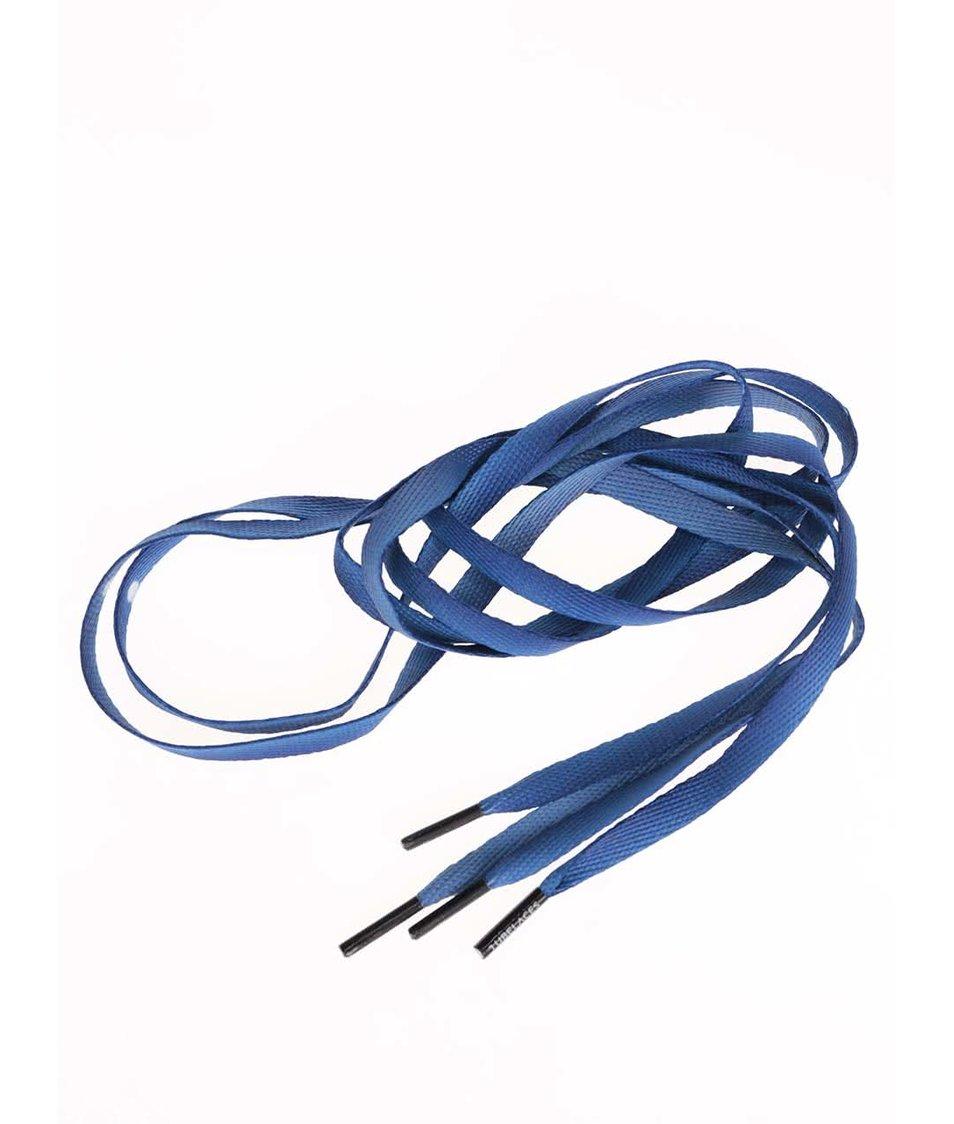 Tmavě modré tkaničky s černými konci Tubelaces (130 cm)
