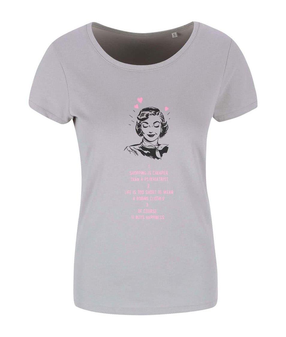 Šedé dámské tričko ZOOT Originál Shopping