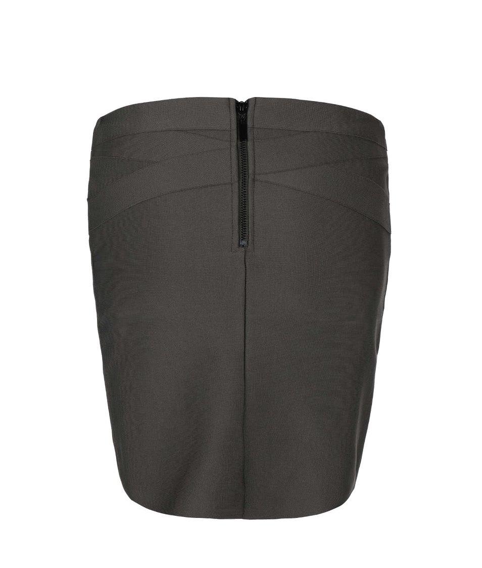 Khaki minisukně Vero Moda Lucky