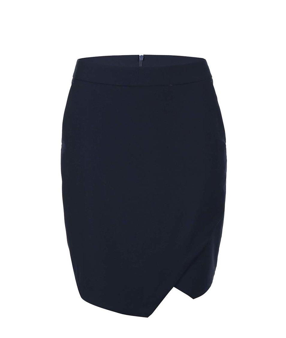 Tmavě modrá pouzdrová sukně Vero Moda Roro
