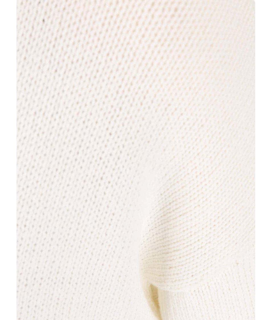 Krémový svetr s krátkým rukávem Noisy May Malin