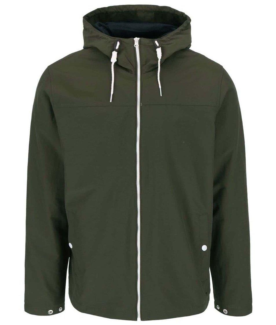 Tmavě zelená lehká bunda s kapucí !Solid Angelo