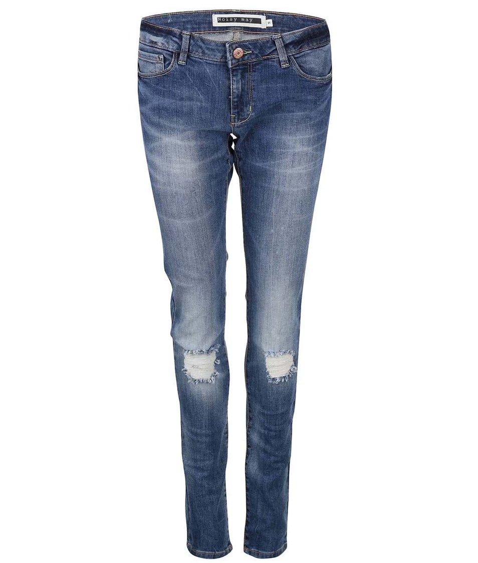 Modré džíny s potrhanými koleny Noisy May Eve