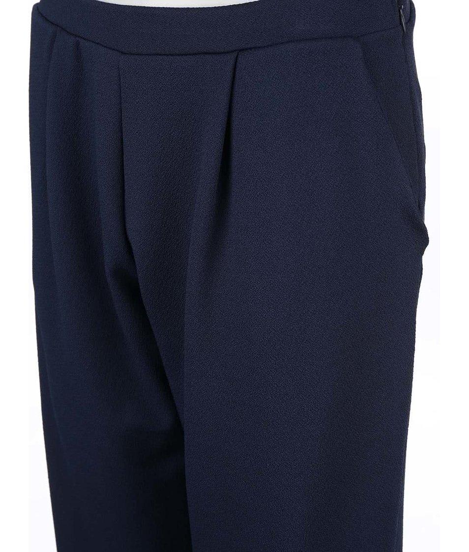 Tmavě modré volné kalhoty Vero Moda Edwar